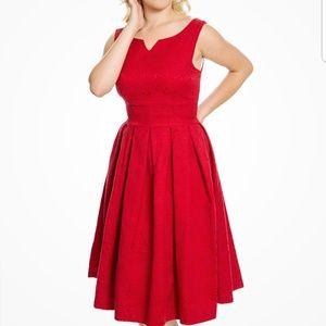625d14fcaafa Lindy Bop Dresses - LindyBop Marianne Red Swing Dress Jacket Twin Set